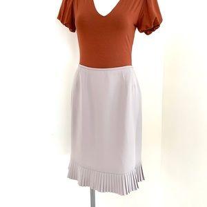 Le Suit | Light Tan with Purple Tone Skirt sz 8P